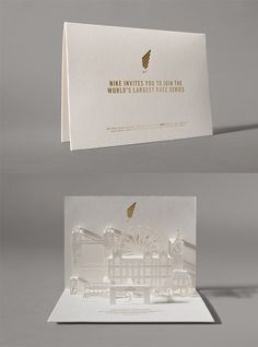 Event Invitation Designs to Impress Your Guests nike-run 20 Event Invitation Designs to Impress Your Guests nike-run Watercolor World Map Business Card Corporate Identity Template Check out Gold Foil Flower Place Cards from BHLDN Escort Place Card Event Invitation Design, Pop Up Invitation, Wedding Invitation Inspiration, Luxury Wedding Invitations, Wedding Invitation Cards, Print Invitations, Wedding Stationery, Fashion Invitation, Wedding Inspiration