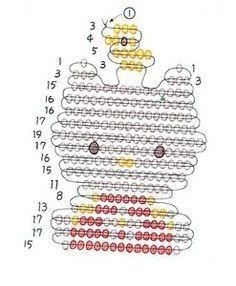 Free Brick Stitch Patterns   bead pattern melting beads hello kitty nerd pattern…
