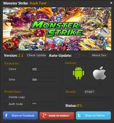 Monster Strike Hack Cheats Tool  Monster Strike Hack is Modhacks.com a new tool, that we all want to present to you. If you ever glimpse at all the other hacks on line, this amazing tool is the most effective. This specific tool was made to be functioning on Android os and iOS devices. That …