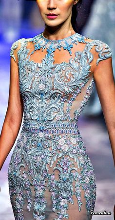 Michael Cinco Couture -Detail Michael Cinco Gowns, Michael Cinco Couture, Couture Fashion, Runway Fashion, High Fashion, Fairy Makeup, Mermaid Makeup, Makeup Art, Fantasy Hair