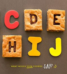 Peanut Butter + Chocolate Alphabet Cookie Bars (Y-U-M!) // Hostess with the Mostess®