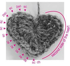 marie's making: Valentines Heart Crochet Tutorial