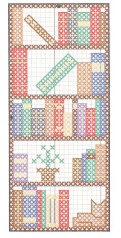 Image result for cross stitch patterns for Teacher bookmarks