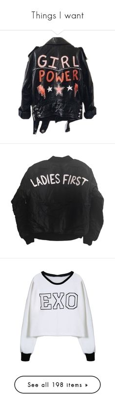 """Things I want"" by ginga-ninja ❤ liked on Polyvore featuring jackets, coats & jackets, outerwear, tops, sweaters, flight jacket, bomber style jacket, bomber jackets, blouson jacket and hoodies"