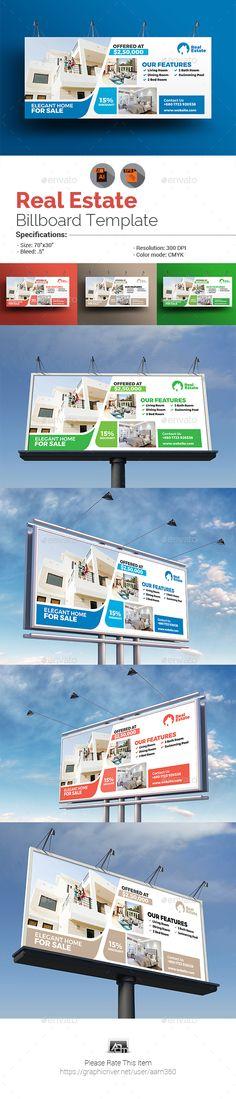 Real Estate Billboard Template Vector EPS, AI Illustrator