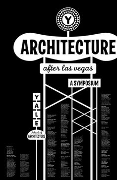 Yale Architecture: Not exactly sure why but I really like this Yale Architecture School poster.