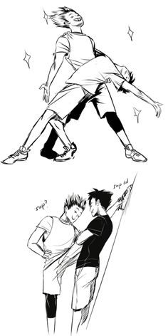 Bokuroo >> I don't ship them like that (to me they're more like a broship) but this is hilarious!