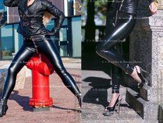Leather PVC zipper zip leggings leggins trousers pants | Etsy Latex Shorts, Shiny Leggings, Skin Tight, Trouser Pants, Leather Pants, Zipper, How To Wear, Women, Etsy