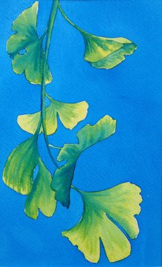 ARTFINDER: Turning Ginko  by Jill Griffin - The seasons are inspiring me greatly currently and a few Ginko leaves blew into my front yard, almost from no where and so they inspired several works.  I ...