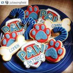 Look how perfect these Paw Patrol cookies by @juliawingfield