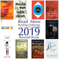 Read More Reading Challenge: A Challenged or Banned Book Ralph Ellison, Khaled Hosseini, The Sun Also Rises, Ya Novels, Prep School, African American Men, Nobel Prize, Reading Challenge, High School Students