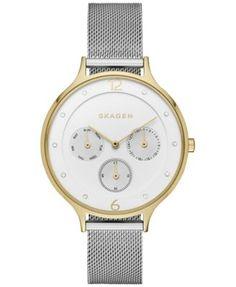 Skagen Women's Chronograph Anita Stainless Steel Mesh Bracelet Watch 36mm SKW2400 - Watches - Jewelry & Watches - Macy's