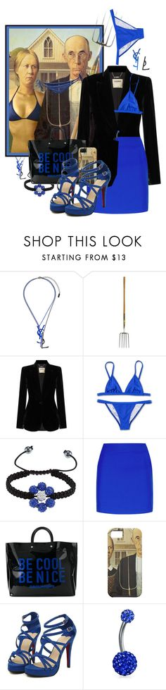 """""""Happy Hour on the Boardwalk....."""" by funnfiber ❤ liked on Polyvore featuring Yves Saint Laurent, L'Agence, La Preciosa, La Perla, Dsquared2 and Bling Jewelry"""
