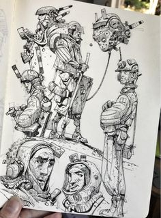 "Ian McQue en Twitter: ""Sketchbook: Spacedudes return! http://t.co/m70QMoprvT"""