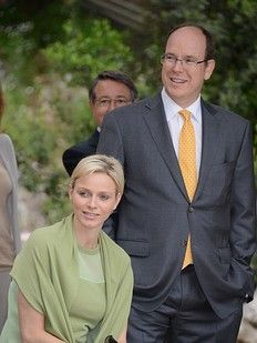 Their Serene Highnesses Prince Albert and Princess Charlene of Monaco