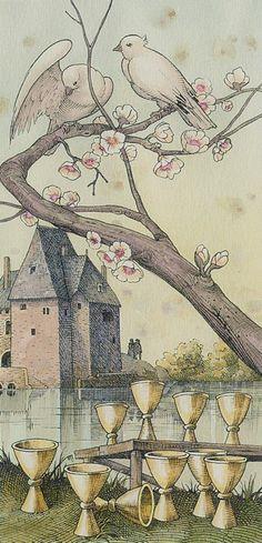 Ten of Cups from the Dürer Tarot  Book a Tarot Reading for 5$! :)  https://www.etsy.com/listing/233224455/tarot-reading