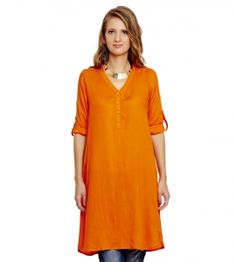 Jalebe trendy orange tunic for women INDTJBS005