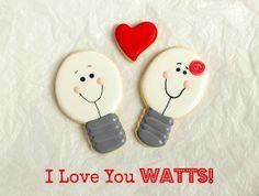 I Love You Watts Valentine Cookies www.thebearfootbaker.com