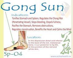 Gong+Sun+Sp-04. Good addition to calm the spirit points. #backinmotion.us