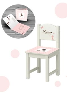 Ons onwijs leuke geboortestoeltje is het ideale kraamcadeau! Het geboortestoeltje met ontwerp van het geboortekaartje maakt de babykamer helemaal af!
