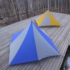 2 one pole tents