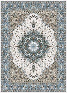 1004 Blue Medallion Oriental Area Rugs