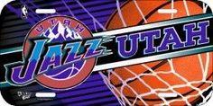 Utah Jazz License Plate