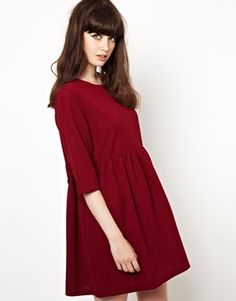 Image 1 of The WhitePepper Smock Dress with Tie Waist