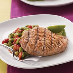 Grilled tuna, Salad with avocado and Avocado dressing on Pinterest