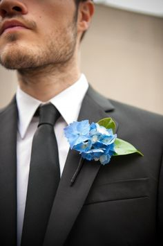 This is the color blue we're going to have in the flowers. We're doing white and blue hydrangeas and white roses (I'm so boring, haha!)