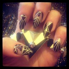nailaddicthagglet's photo on Instagram - a Great Gatsby Nail Art