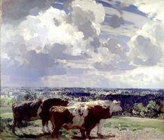 British Paintings: John Alfred Arnesby Brown - 'In June' c1917