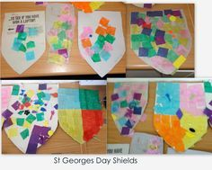 make your own coat of arms for yourself (and family members) St George S Day, Saint George, Diy Paper, Origami Paper, Paper Art, British Values, Buddhist Monk, Thinking Day, Japanese Paper