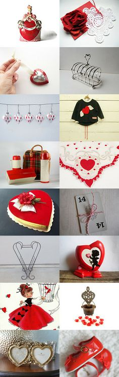 Vintage Valentines Under 50 by DivineOrders on Etsy--Pinned with TreasuryPin.com