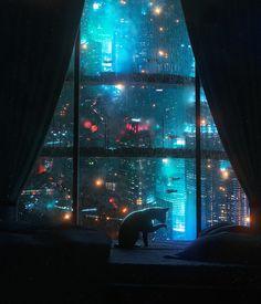 Cyberpunk Aesthetic, Cyberpunk City, Arte Cyberpunk, Futuristic City, Cyberpunk 2077, City Aesthetic, Cyberpunk Games, Blue Aesthetic, Science Fiction