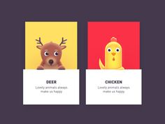 sweet animals 03 by Rwds #Design Popular #Dribbble #shots