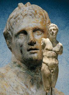 Alexandre le Grand en dieu Pan. Voir http://www.histoiredelantiquite.net/archeologie-grecque/les-grecs-dagamemnon-alexandre-le-grand-une-magnifique-exposition-pointe-calliere/