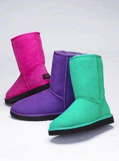 UGG Boots short classics <3 the bright colors!
