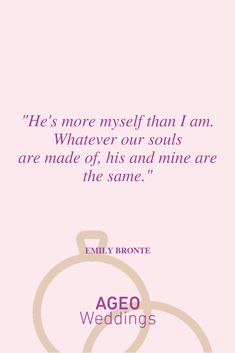 Whatever our souls are made of, his and mine are the same. Most Beautiful Love Quotes, Emily Bronte, Place Cards, Place Card Holders, Album