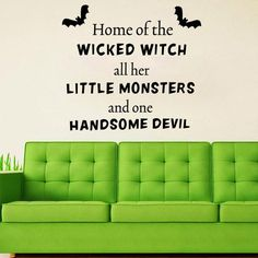 $4.35 Halloween Proverb Wicked Witch Words Room Decoration Wall Sticker