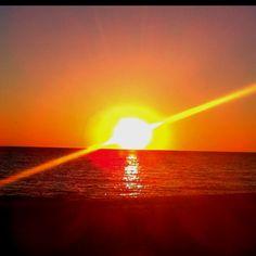 Beachside sunset, Sanibel Island, Florida