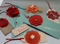Different flowers from one Sizzix die (part of Sizzix Fresh Vintage Blog Hop).