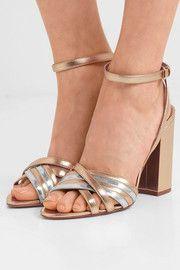 c05e9b4004f291 Toni two-tone metallic leather sandals Tabitha Simmons