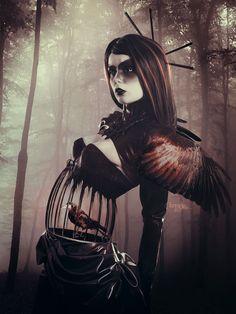 Lady Crow by *Kryseis-Retouche on deviantART
