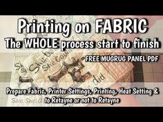 Printing Photos Text & Graphics on Fabric - FREE Mugrug panel - Start to Finish Tutorial Printing Photos, Paper Video, Freezer Paper, Mug Rugs, Photo Tips, Graphic Prints, Printing On Fabric, Printer, Sewing Projects