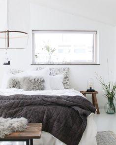 Love my Sunday lie ins! Quilt, bench, sheepskins from @nordal_interiors #bedroom #bedroomdecor #bedroomdesign