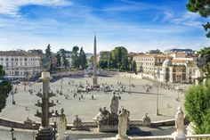 Piazza del Popolo - Featured on RueBaRue, famous for its 73-foot-tall ancient Egyptian obelisk.