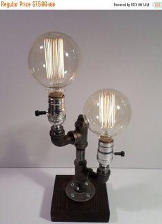 SALE 25% korting op industriële Lamp  door UrbanIndustrialCraft