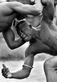Wrestling was considered a major sport by the people of the Igbo tribe in Nigeria, Africa. Description from thingsfallapart10.wikispaces.com. I searched for this on bing.com/images