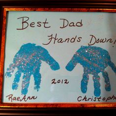 Father's day craft with day care kiddies!